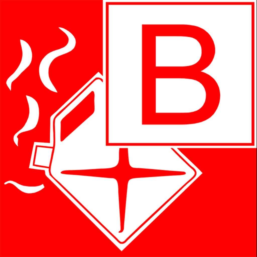 Feuer an Bord, Brandklasse B