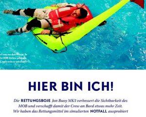 Yacht Artikel 2015-24 | JonBuoy MKF Rettungsboje für bessere MOB Manöver | Skipper | ISAF Sicherheitstraining | Überlebenstraining|